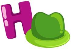 Alphabet H for hat stock illustration