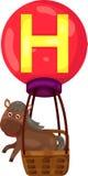 Alphabet H for horse stock illustration