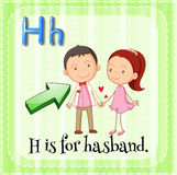Alphabet H is for husband Stock Photos
