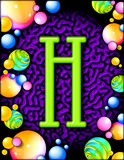 alphabet h party Στοκ Εικόνες