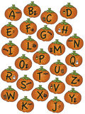 Alphabet halloween. Illustration of a alphabet for halloween Stock Photo