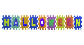 Alphabet Halloween puzzle pieces Royalty Free Stock Photography