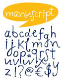 Alphabet. Hand drawn letters. Royalty Free Stock Photo