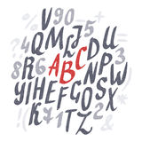 Alphabet. Hand drawn letters Stock Image
