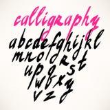 Alphabet. Hand drawn letters royalty free illustration