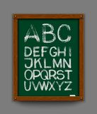 Alphabet. Hand drawn. Vector eps 10 Royalty Free Stock Image