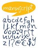 Alphabet. Hand gezeichnete Zeichen. Lizenzfreies Stockfoto