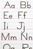 Alphabet handwriting. Stock Image