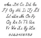 Alphabet handwriting fonts. Isolated vector vector illustration