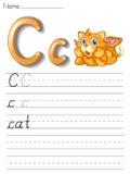 Alphabet handwriting series Royalty Free Stock Photos