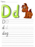 Alphabet handwriting series Royalty Free Stock Images