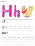 Alphabet handwriting series Royalty Free Stock Photo