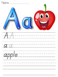 Alphabet handwriting series Stock Photography