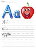 Alphabet handwriting series Stock Photography