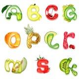 Alphabet of health Royalty Free Stock Photos