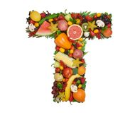 Alphabet of Health - T Royalty Free Stock Image