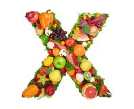 Alphabet of Health - X Royalty Free Stock Photo