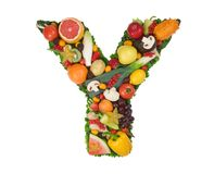 Alphabet of Health - Y Stock Images