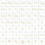 Alphabet from human footprint Royalty Free Stock Photo