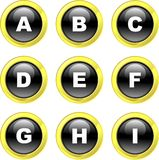 Alphabet icons Royalty Free Stock Images