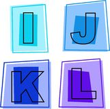 Alphabet icons Royalty Free Stock Photos