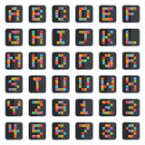 Alphabet icons Stock Photography