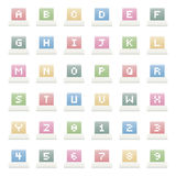 Alphabet icons Stock Images
