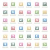 Alphabet icons Stock Images