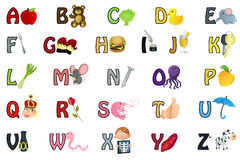Alphabet illustration Royalty Free Stock Photo