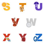Alphabet illustration Royalty Free Stock Photos