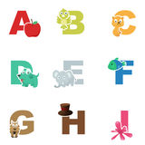 Alphabet illustration Royalty Free Stock Images
