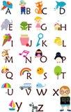 Alphabet. Illustration of cute alphabet set Royalty Free Stock Image