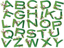 Alphabet. Illustration of alphabet with flowers royalty free illustration