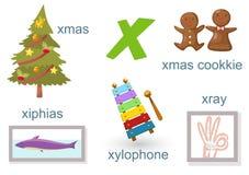 Alphabet X. Illustration of alphabet x set Stock Photos