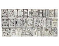 Alphabet im Metalltypen Lizenzfreie Stockfotografie