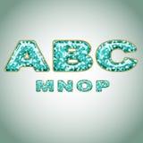 Alphabet imitating precious shiny surface Royalty Free Stock Photos