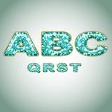 Alphabet imitating precious shiny surface Stock Photo