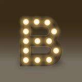 Alphabet Incandescent light bulb box set letter B, illustration Stock Photography