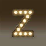 Alphabet Incandescent light bulb box set letter Z, illustration Stock Image