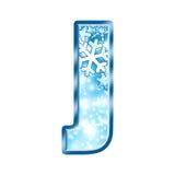 alphabet j letter winter Απεικόνιση αποθεμάτων