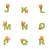 Alphabet J-R Fox Stockfotos