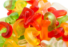 Alphabet jelly candies Royalty Free Stock Images