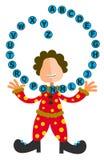 Alphabet juggler Stock Image