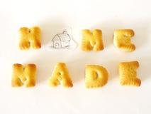 Alphabet-Kekse Stockfoto