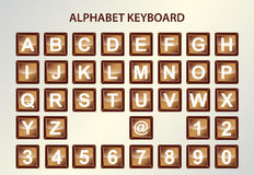 Alphabet keyboard Stock Images