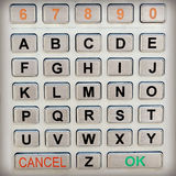 Alphabet Keypad Stock Images