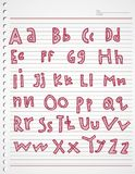 Alphabet kiddies doodle and stripe Stock Images
