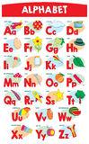 Alphabet for kids Royalty Free Stock Images