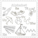 Alphabet for kids. Letters r-z. Isolated letters Royalty Free Stock Image