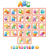 Alphabet for kids with pictures Stock Images